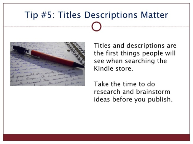 kindle tip 5