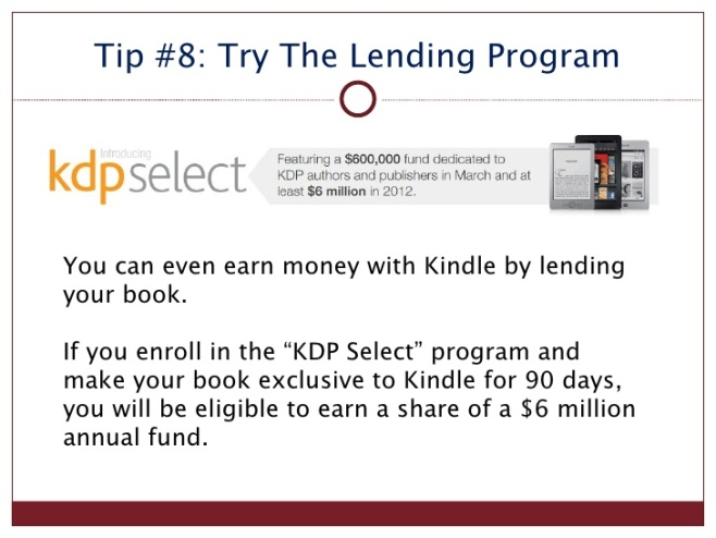kindle tip 8